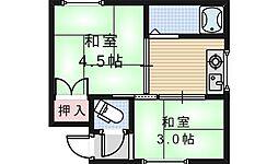 メゾンヒロ[201号室]の間取り