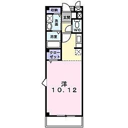 千葉県松戸市小山の賃貸マンションの間取り