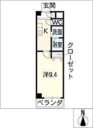 レインボーハイム[4階]の間取り