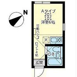 ユナイト田島ジャン・カルロ[101号室]の間取り