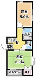 エムハイツ藤田[3階]の間取り