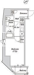 JR山手線 新橋駅 徒歩5分の賃貸マンション 6階1Kの間取り