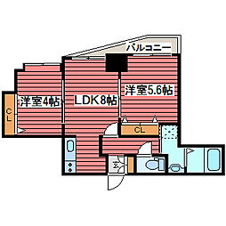 ル・ノール福住[7階]の間取り