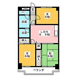 大宮セントラルマンション[4階]の間取り