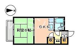 サンハイツ多井田(エステート)[3階]の間取り