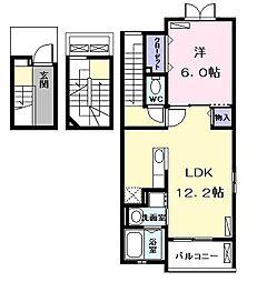グレイスヒルズII[3階]の間取り