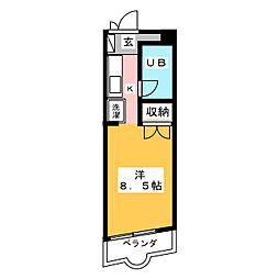 ルミエール元町[7階]の間取り