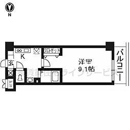 プラネシア星の子京都駅前[202号室]の間取り