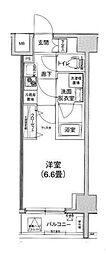 アイル横浜BAYSIDE 5階1Kの間取り