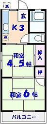 ふじみハウス[2階]の間取り