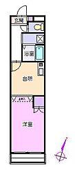 ライフルマンション[2階]の間取り
