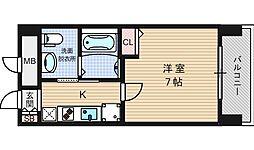 レオンコンフォート難波西[12階]の間取り
