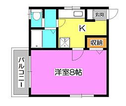 サンパティーク西所沢[2階]の間取り