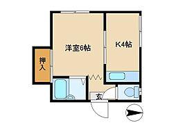 東京都荒川区東尾久6丁目の賃貸マンションの間取り