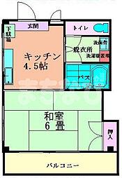 東京都江戸川区南葛西4丁目の賃貸マンションの間取り