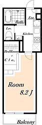 プルミエール[3階]の間取り