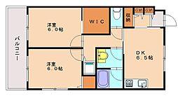 上野ビル[5階]の間取り
