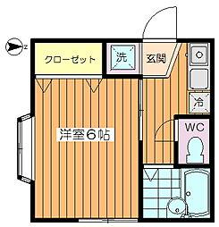 東京都練馬区大泉学園町2丁目の賃貸アパートの間取り