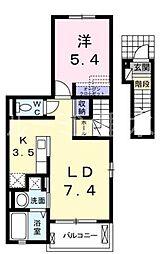 クラリティスカイ1[2階]の間取り