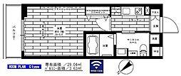 西武新宿線 鷺ノ宮駅 徒歩8分の賃貸マンション 2階1Kの間取り