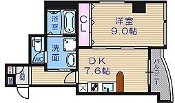 GRAZIONIHONICHI[5階]の間取り