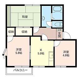 ドミール KUMI 2[2階]の間取り