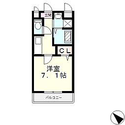 滋賀県大津市雄琴2丁目の賃貸アパートの間取り