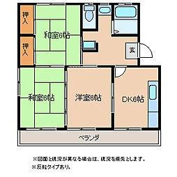 長野県岡谷市今井の賃貸マンションの間取り