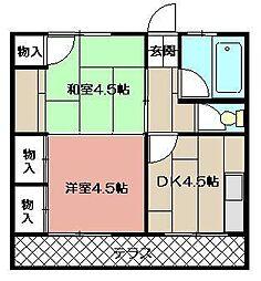 パークマンション[205号室]の間取り