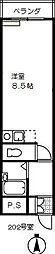 桜の木ヨシノ[302号室]の間取り