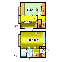 北海道札幌市東区北八条東13丁目の賃貸アパートの間取り