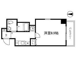 Osaka Metro谷町線 南森町駅 徒歩8分の賃貸マンション 2階1Kの間取り