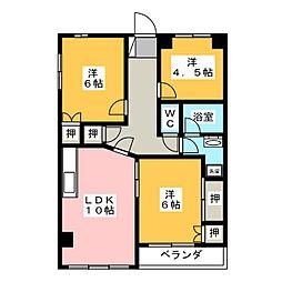 パープルマンション[3階]の間取り