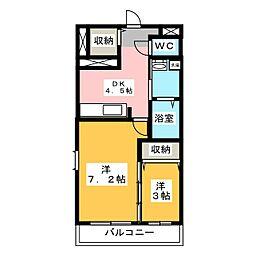 NNMマンションB棟[3階]の間取り