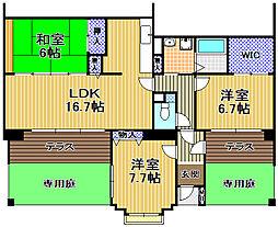酉島リバーサイドヒルなぎさ街15号棟[1階]の間取り