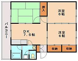 稲永ビル[2階]の間取り