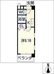 フジスター西浜田[3階]の間取り