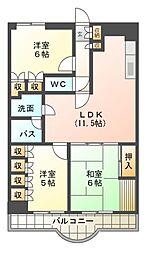 サン・クレストマンション[5階]の間取り
