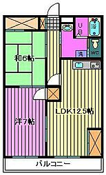 戸田岡昭マンション[205号室]の間取り