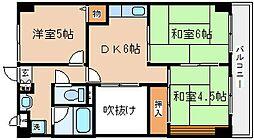 兵庫県神戸市長田区駒ケ林町5丁目の賃貸マンションの間取り