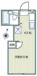 ドミール駒沢[105号室]の間取り