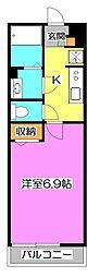 リブリ・Akitsu B[2階]の間取り