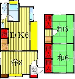 [一戸建] 千葉県鎌ケ谷市南初富3丁目 の賃貸【/】の間取り
