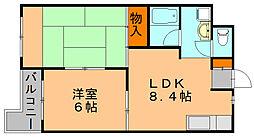 第3入江ビル  東雲壱番館[3階]の間取り