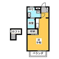 メゾン牧田S[1階]の間取り