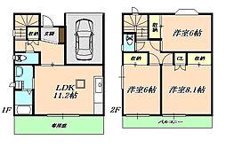 エナール桃山[2階]の間取り
