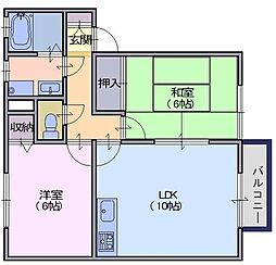 ソルティ二階堂A[2階]の間取り