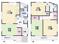 [一戸建] 神奈川県三浦市初声町和田 の賃貸【/】の間取り