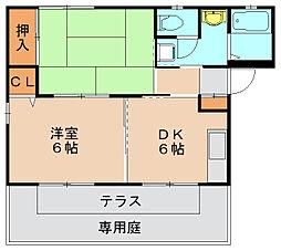 フォレスト筥松A[2階]の間取り