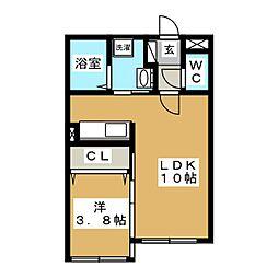 Colorise白石[4階]の間取り